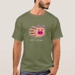 Hand shaped Pig t-shirt