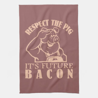 PIG TO BACON custom color kitchen towel