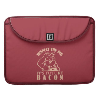 PIG TO BACON custom color MacBook sleeve