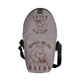 PIG TO BACON custom color messenger bag