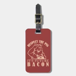 PIG TO BACON custom luggage tag