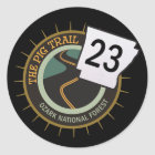 Pig Trail Highway 23 Arkansas Motorcycle Road Classic Round Sticker