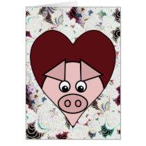 Pig Valentine Card