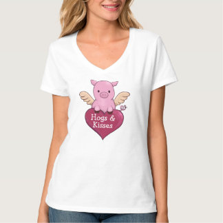 Pig Valentine's Day Hog's and Kisses T-Shirt
