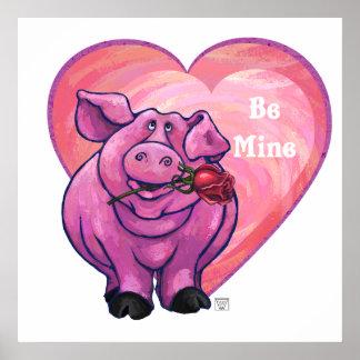 Pig Valentine's Day Poster