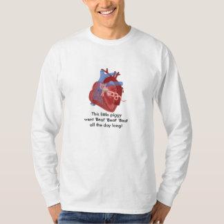 Pig Valve Heart Haiku Art Cotton Shirt- Kevin Shea Tee Shirt