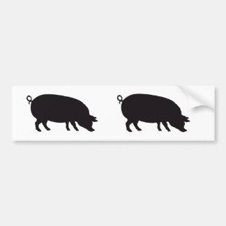 Pig Vintage Wood Engraving Bumper Sticker