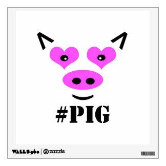 #Pig Wall Sticker