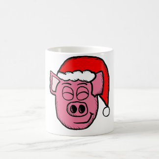 Pig Wearing a Santa Cap Mug
