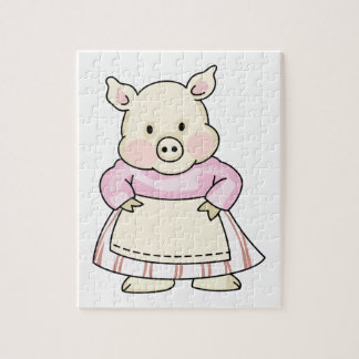 PIG WEARING APRON JIGSAW PUZZLES