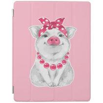 Pig wearing bandana iPad smart cover