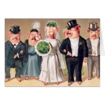 Pig Wedding Card