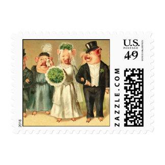 Pig Wedding Postage