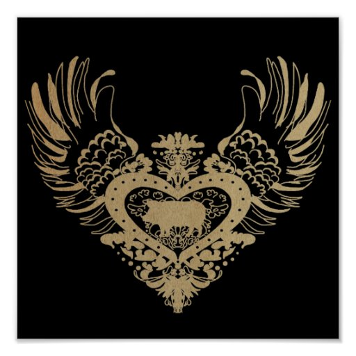 Pig Winged Heart Posters