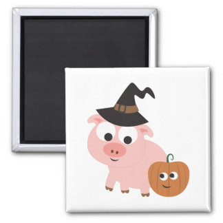 Pig witch magnet