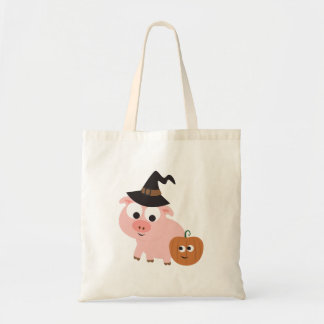 Pig witch tote bag