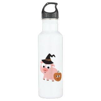 Pig witch water bottle