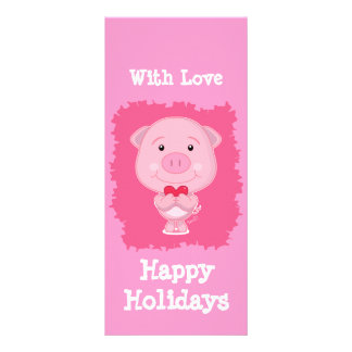 Pig with heart Rack Card