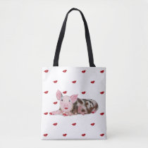 Pig with Lipstick Tote