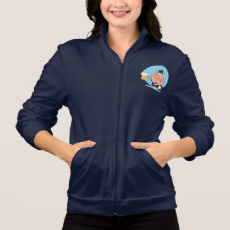 Pig With Pint of Foaming Beer Womens Jacket