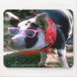 Pig With Sunglasses And Bandana Mouse Mats