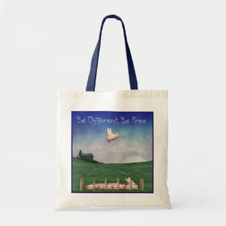 Pig With Wings-Be Different, Be Free Tote Bag