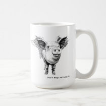 "Pig with Wings ""Don't Stop Believin' Coffee Mug"