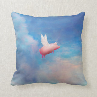 pig with wings pillow