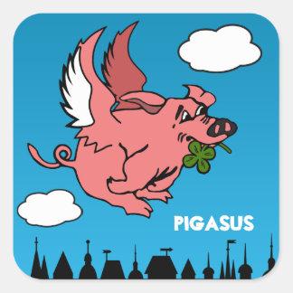 Pigasus Square Sticker