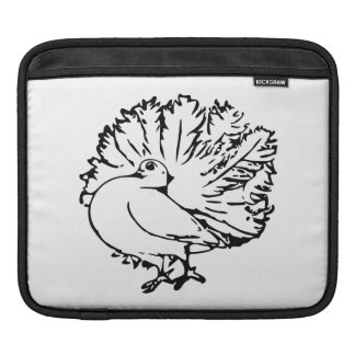 Pigeon 4 Black and White Illustratiom Sleeves For iPads
