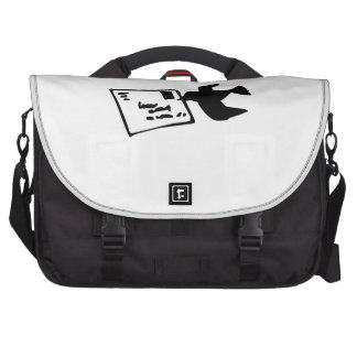 Pigeon Bird Delivering Mail Laptop Bags