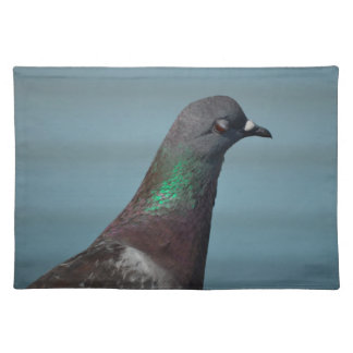 pigeon bird eye half closed animal cloth placemat