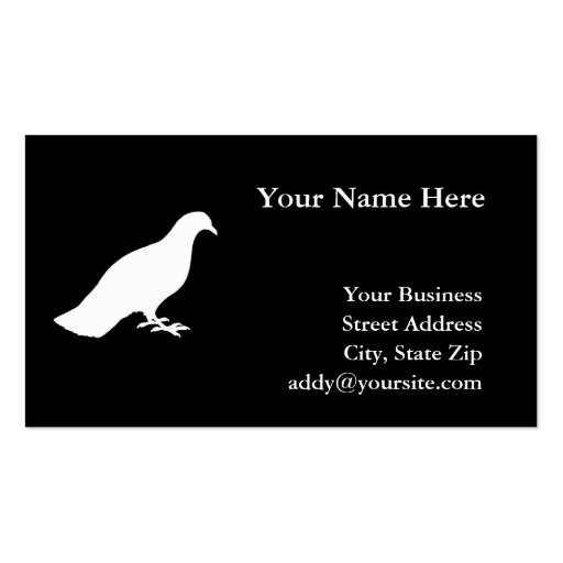 Pigeon Business Card Template
