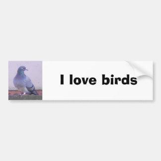 Pigeon copy, I love pigeons Bumper Sticker