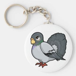 Pigeon Design Basic Round Button Keychain