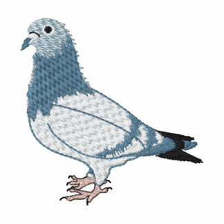 Pigeon Embroidery Art Design