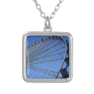 Pigeon Forge Wheel Silver Plated Necklace