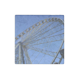 Pigeon Forge Wheel Stone Magnet