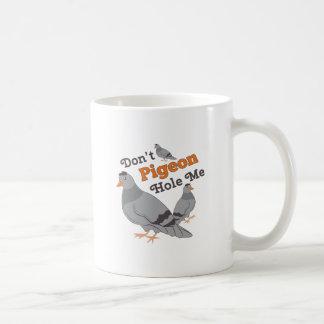 Pigeon Hole Me Classic White Coffee Mug