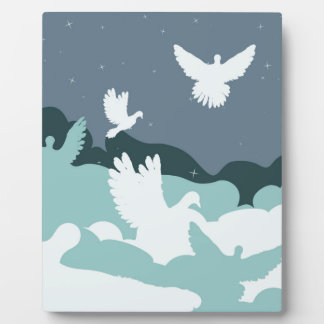 Pigeon in the Clouds Plaque