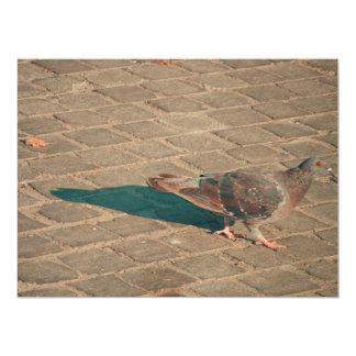 """Pigeon 6.5"""" X 8.75"""" Invitation Card"""