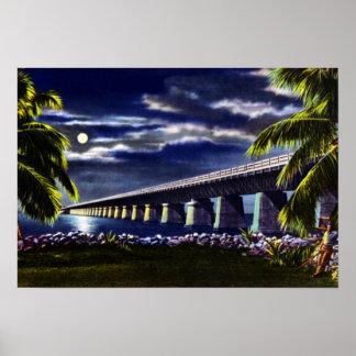 Pigeon Key Florida Overseas Highway Poster
