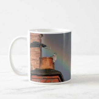 Pigeon on the Pot with Rainbow Mug mug
