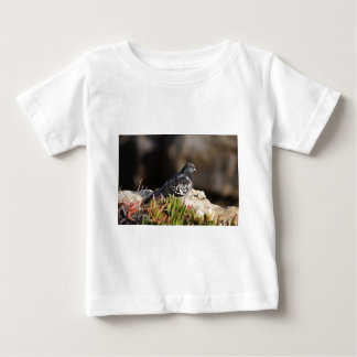 Pigeon perched on a cliff ledge baby T-Shirt