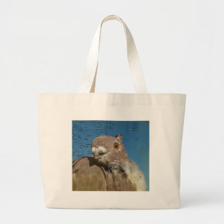 Pigeon Poetry Large Tote Bag