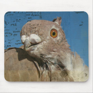 Pigeon Poetry Mouse Pad