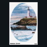 """Pigeon Point Light Wall Decal<br><div class=""""desc"""">From an original oil painting by Brenda Thour of Pigeon Point Lighthouse located in Central California on an over cast and cloudy evening. Copyright by Brenda Thour 2004.</div>"""
