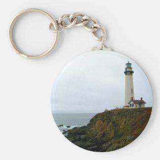 Pigeon Point Lighthouse Basic Round Button Keychain