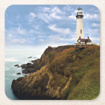 Pigeon Point Lighthouse | California Square Paper Coaster