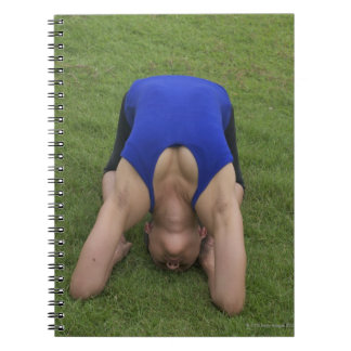 Pigeon pose spiral note books